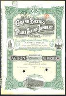 GRAND BAZAR DE LA PLACE SAINT-LAMBERT, Liège - BE - 1 ACTION Au PORTEUR - 1924 - Actions & Titres
