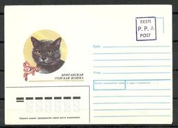 Estland Estonia 1992 Provisional Handstamp Surcharge P.P.A Stationery Cover At Of Great Britain - Estonia