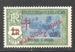 INDE ERREUR Surcharge «Croix De Lorraine Et PRANCE LIBRE» 4 CA SUR 1 R - Maury 250b ** - Ungebraucht