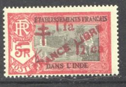 INDE ERREUR Surcharge «Croix De Lorraine Et PRANCE LIBRE» 1a 12 Ca  SUR 5 R - Maury 257b ** - Ungebraucht