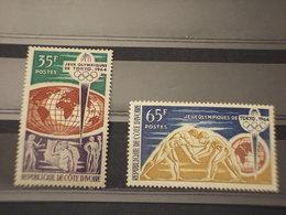 COTE D'IVOIRE - 1964 OLIMPIADI 2 VALORI - NUOVI(++) - Costa D'Avorio (1960-...)