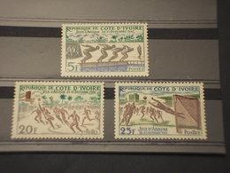 COTE D'IVOIRE - 1961 SPORT 3 VALORI - NUOVI(++) - Costa D'Avorio (1960-...)