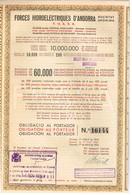 Titre Ancien - Forces Hydroélectriques D'Andorra - Obligation De 1935 - - Elettricità & Gas