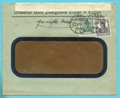 Brief (Geschafts) Duitse Zegel Stempel EUPEN Op 8/7/19 Met Censuurstrook CENSURE MILITAIRE /178 (na-oorlogs Censuur !!) - Guerre 14-18