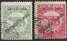 Italie Fiume 1921 N° 164 165 Constituente Cote 10 €  (F12) - Fiume