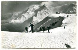 74170 Sur Les Pentes Du MONT D'ARBOIS - Vue Sur Le Mont Blanc - CPSM 9 X 14 Cm, Qualité Photo Véritable - Non Classés