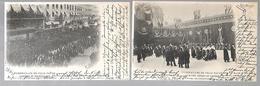 75 FUNERAILLES FELIX FAURE 1899 2 CARTES - Other