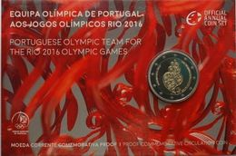 PORTUGAL, 2€ Coin Commemorative Of 2016 Rio Olympic Team Proof Coin In Folder - Portugal
