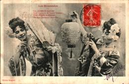 Bergeret 236, Les Mousmées Femmes Asiatiques éventail Lampion (cachet OR - Bergeret