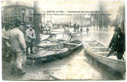 94600 CHOISY LE ROI - Crues 1910 - Etablissement D'un Débarcadère Pour L'arrivée Des Barques De Sauvetage - Choisy Le Roi