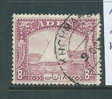 Aden 1937 Dhows 8 Anna Attractive Used, Creased - Aden (1854-1963)
