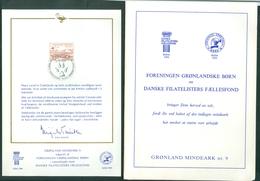 Greenland. 1981. Cover,+ Memorial Card # 9. Scott # B.9. Engraver: CZ. Slania - Other