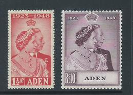 Aden 1949 Silver Wedding RSW Set 2 MLH - Aden (1854-1963)