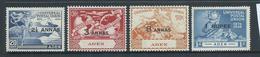 Aden 1949 UPU Set Of 4 MLH - Aden (1854-1963)