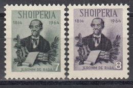 Albania 1964 - Jeronimo De Rada, Poete, Mi-Nr. 885/86, Neufs, Sans Gomme - Albanie