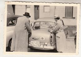 Old Timer - Couple - Oud Koppel - Photo 6 X 9 Cm - Automobiles
