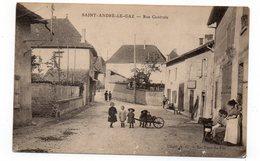 38 - SAINT ANDRÉ Le GAZ - Rue Centrale - Animée (L32) - Saint-André-le-Gaz