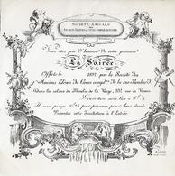 Carton D' Invitation - 1892 - Anciens Elèves Du Cours De La Rue Boulard (14 E ) - Visitekaartjes