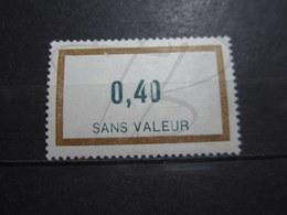 """VEND BEAU TIMBRE FICTIF DE FRANCE N° F162 , """" 0 """" TRONQUE , XX !!! - Phantomausgaben"""
