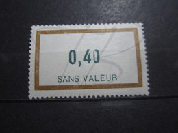 "VEND BEAU TIMBRE FICTIF DE FRANCE N° F162 , "" 0 "" TRONQUE , XX !!! - Phantom"