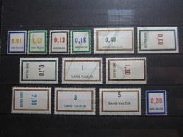 VEND BEAUX TIMBRES FICTIFS DE FRANCE N° F158 - F170 , ANNEES 1964 ET 1965 , XX !!! - Phantomausgaben