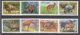 Vietnam 1981 - Wild Animals, Mi-Nr. 1189/96, MNH** - Vietnam