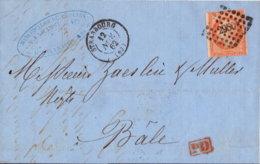 1962 STRASBOURG Bfh. PD N. Bale - Poststempel (Briefe)