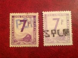 Colis Postal YT 6 7 Violet Et Mauve - Parcel Post