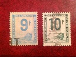 Colis Postal YT 27 28 9F 10F - Oblitérés