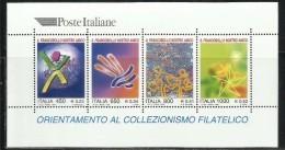 ITALIA REPUBBLICA ITALY REPUBLIC 1999 ORIENTAMENTO ALLA FILATELIA IL FRANCOBOLLO NOSTRO AMICO BLOCCO FOGLIETTO SHEET MNH - Hojas Bloque