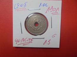 Léopold II. 10 Centimes 1901 BELLE QUALITE (A.4) - 04. 10 Céntimos