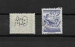 AUTRICHE PERFORE OBLITERE 1925/1927  / AIGLE /   YT N° 345  A O C Le C Est à Cheval Sur Le A Et Le O - Used Stamps