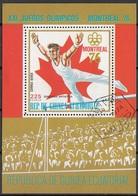 Guinea Equatoriale 1974 Bf. 223A XXI Olimpiade Montreal Ginnastica Artistica Sheet Perf. CTO Ecuatorial - Estate 1976: Montreal