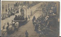 Bruxelles - Carte Argentique, Genre Carte-photo Brussel - Bruxelles - Cortège Historique 1905, Char Maison De Bourgogne - Feesten En Evenementen