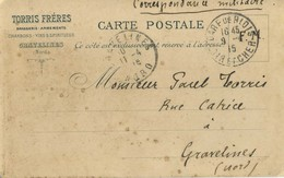CPA Carte Publicitaire 59 Gravelines Torris Freres Brasserie, Armements, Charbons Et Vins FM 1915 - Gravelines