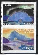 Groënland 2017, N°730/731 Neufs Adhésifs Issus De Carnet Europa Chateaux - Groenlandia