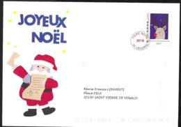 Entier Enveloppe TSC La Poste . Père Noël 2018 - Biglietto Postale
