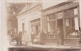 - 41 - CHISSAY : Rare Carte Photo ,  Boucherie Et Mercerie , Avenue Du Chateau - France