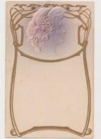 Cpa Fantaisie Gaufrée / Profil De Femme .Style Art Nouveau - Femmes