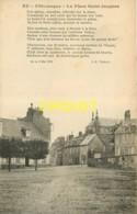 76 Eu Pittoresque Avec Poème De Théreux, Place St Jacques, Carte Pas Courante - Eu