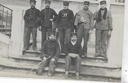 Thème, Militaria, Guerre 1914-1918, Carte-Photo D'un Groupe De Militaires, Scan Recto-Verso - Guerra 1914-18