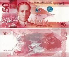 PHILIPPINES      50 Piso      P-207c       2018      UNC  [sign. Duterte-Espenilla] - Filippine