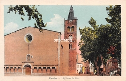L'Eglise Et La Place - Prades - Prades