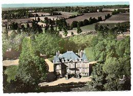 CPSM   87     RANCON      VUE AERIENNE     LE CHATEAU DE MONTRU - Frankrijk