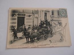 CPA 63 Châtel-Guyon Splendid Et Nouvel Hôtels Le Départ De La Diligence 1904 - Châtel-Guyon