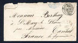RUSSIE A FRANCE 1879 ..entier + Timbre Cachet Bleu - Poststempel (Briefe)