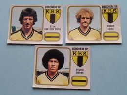 BERCHEM SP. K.B.S. ( Pedro REYNA / Roger LEIRS / Stan Van Den BUYS ) > FOOTBALL 81 ( Nrs. 73-64-68 ) - Figurine PANINI ! - Trading-Karten