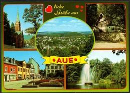 D0372 - TOP Aue - Verlag Bild Und Heimat Reichenbach Qualitätskarte - Aue