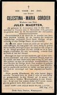 Adinkerke, Veurne, 1934, Celestina Cordier, Maerten - Images Religieuses