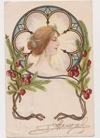 Cpa Fantaisie / Profil De Femme Style Art Nouveau - Femmes